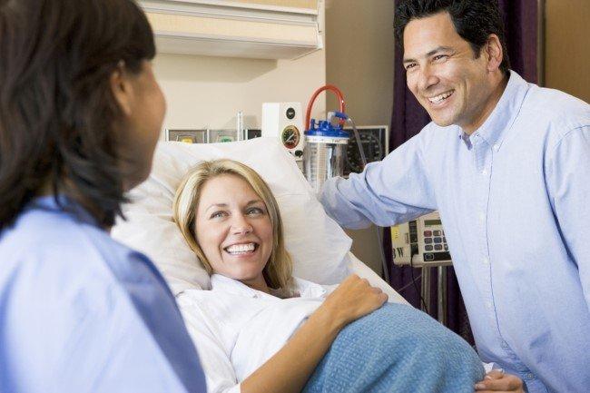 Прием беременной в стационаре